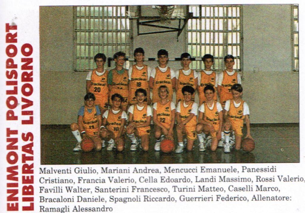 LIBERTAS LIVORNO MINIBASKET 1990