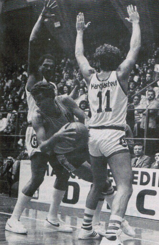STAGIONE 1983/84: RAPIDENT PALLACANESTRO LIVORNO vs MANGIAEBEVI FORTITUDO BOLOGNA