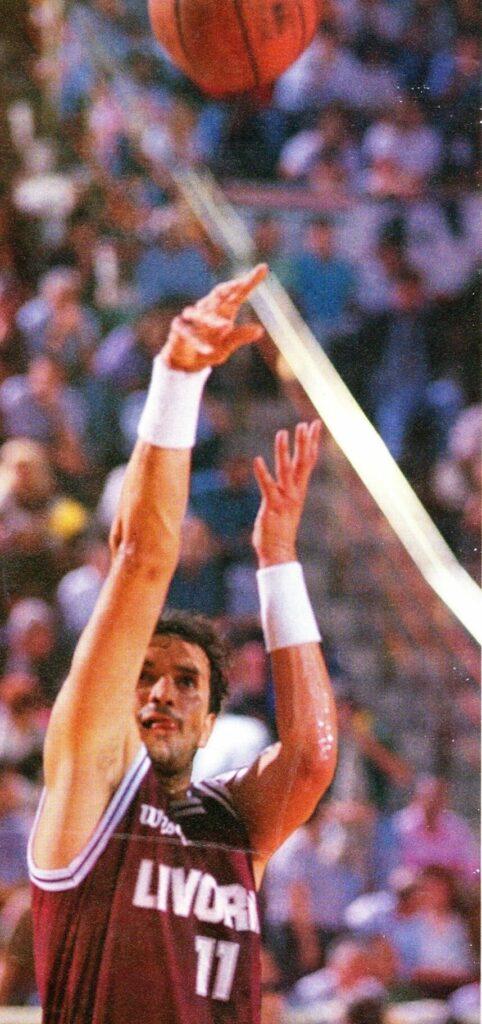 STAGIONE 1991/92: LEONARDO SONAGLIA IN MAGLIA BAKER LIBERTAS PALLACANESTRO LIVORNO