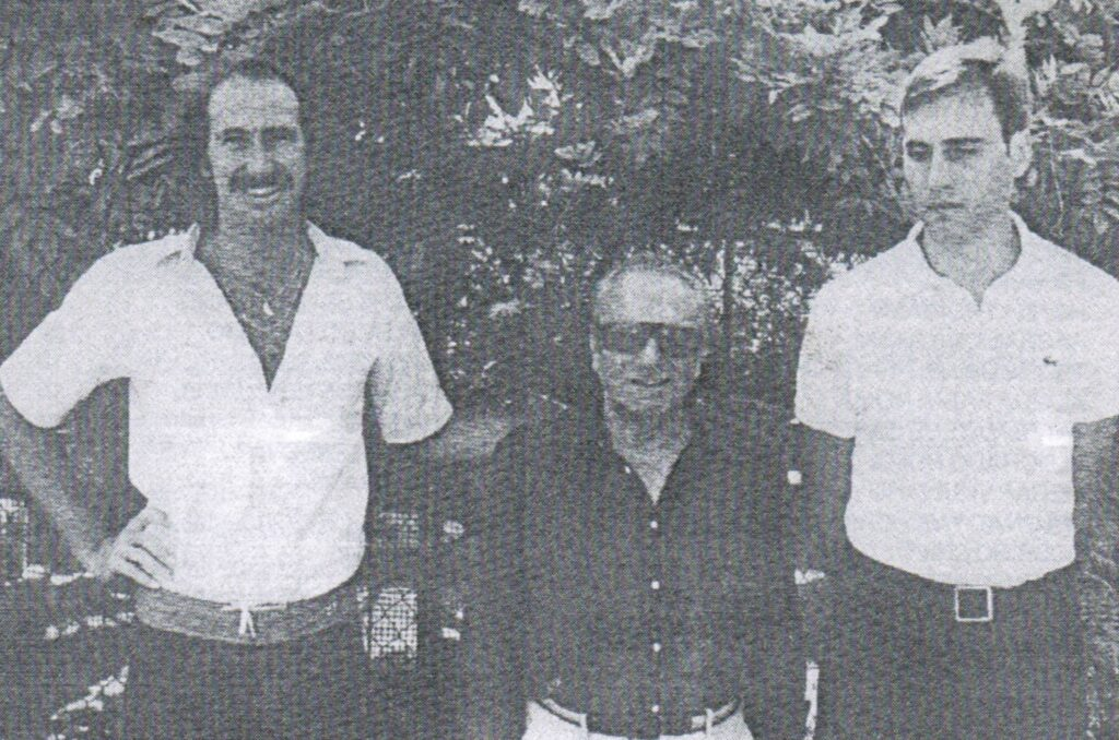 ESTATE 1980: UMBERTO FORESI INSIEME A RICK DARNELL E JOHN GROCHOWALSKY