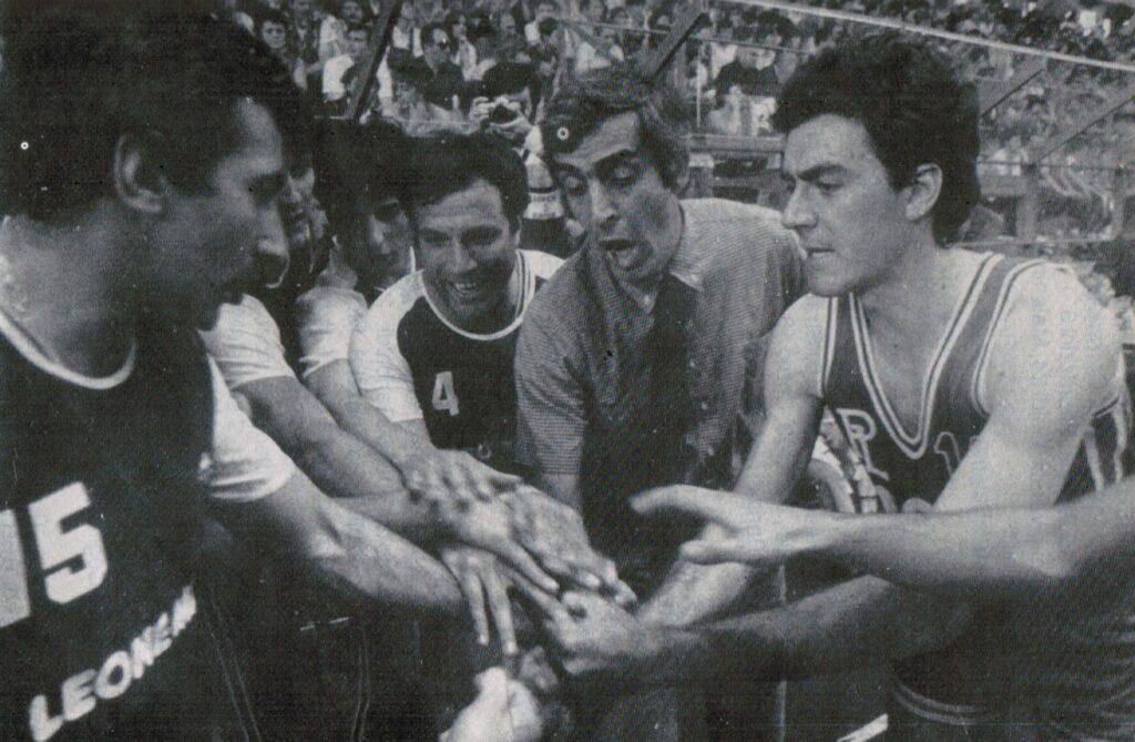 STAGIONE 1979/80: UN TIME-OUT DELLA PALLACANESTRO LIVORNO SPONSORIZZATA LEONE MARE