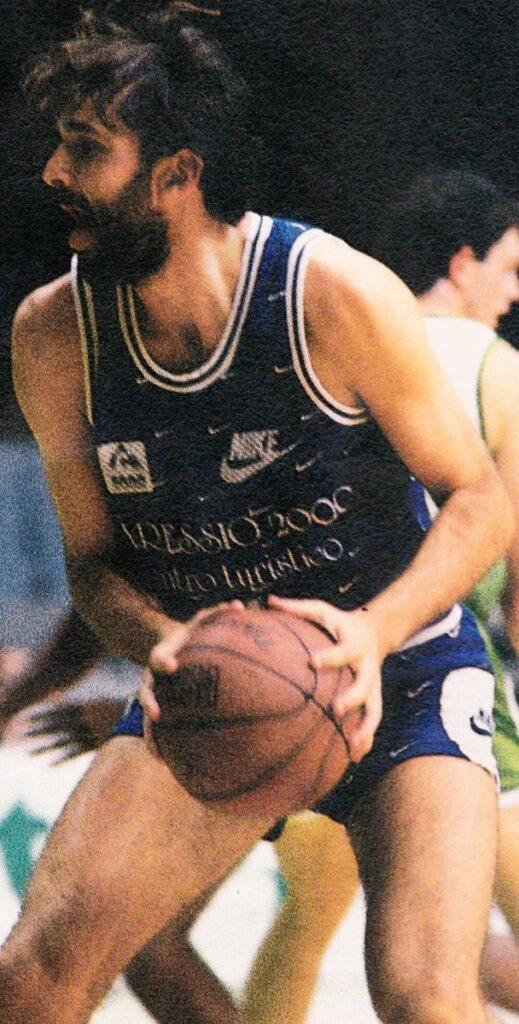 STAGIONE 1989/90: UMBERTO COPPARI IN MAGLIA PALLACANESTRO LIVORNO